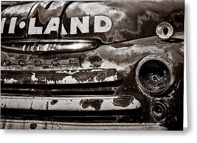 Hi-Land  -BW Greeting Card by Christopher Holmes