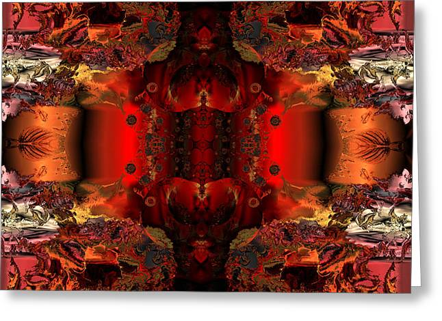 Colorful Abstract Algorithmic Contemporary Greeting Cards - Hidden chamber of the prince Greeting Card by Claude McCoy