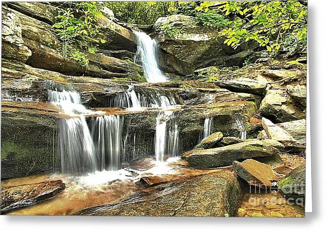 Ledge Photographs Greeting Cards - Hidden Falls At Hanging Rock Greeting Card by Adam Jewell