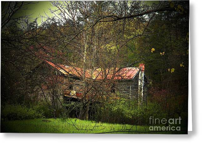 Hidden House in Spring Greeting Card by Joyce Kimble Smith