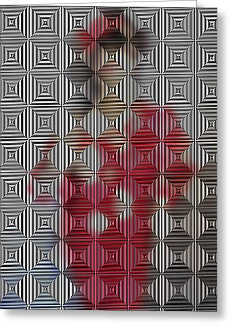 Hidden IImages Its All A Blur Greeting Card by HollyWood Creation By linda zanini