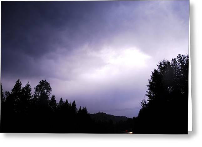 Lightning Greeting Cards - Hidden Lightning Greeting Card by Don Mann