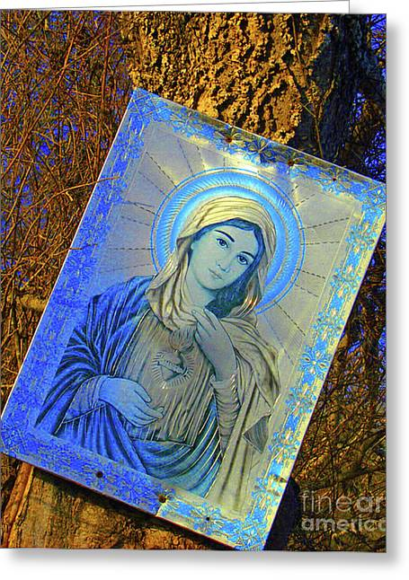 Rememberance Greeting Cards - Hidden Shrine Greeting Card by Joe Jake Pratt