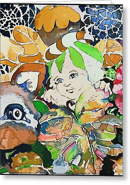 Imps Greeting Cards - Hide and Seek Greeting Card by Mindy Newman