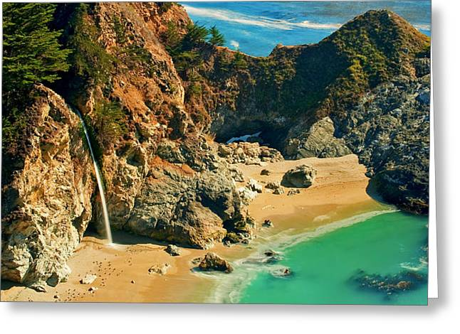 Mcway Falls Greeting Cards - Hide Away Greeting Card by Aron Kearney Fine Art Photography