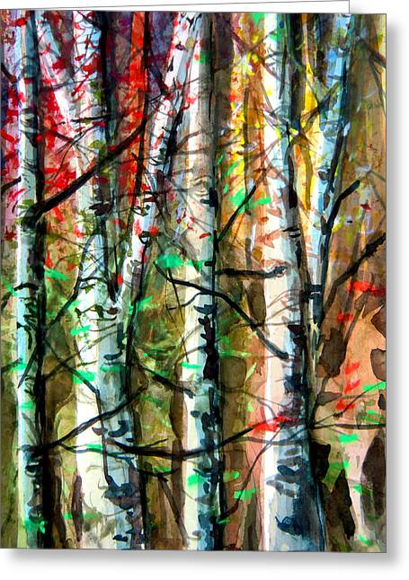 Fawn Mixed Media Greeting Cards - Hiding in the Forest Greeting Card by Mindy Newman