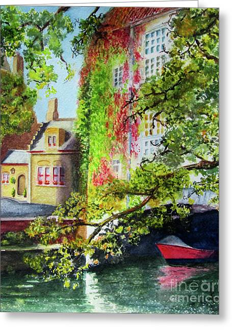 Bruges Greeting Cards - Hiding Greeting Card by Karen Fleschler