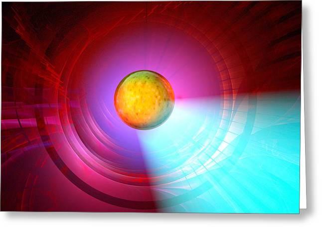 Higgs Boson Particle, Artwork Greeting Card by Laguna Design