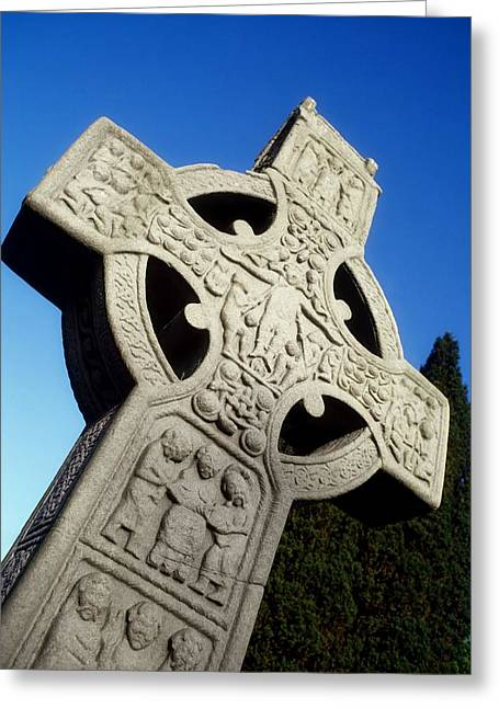 High Cross, Monasterboice, Co Louth Greeting Card by The Irish Image Collection