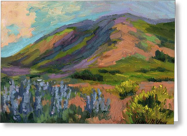 High Country Greeting Cards - High Desert Spring Greeting Card by Diane McClary