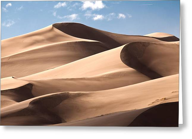 Great Sand Dunes Greeting Cards - High Dune Greeting Card by Adam Pender