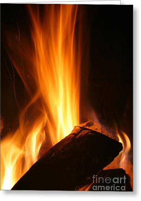 Best Sellers -  - Engulfing Greeting Cards - High Fire Greeting Card by Francisco Leitao