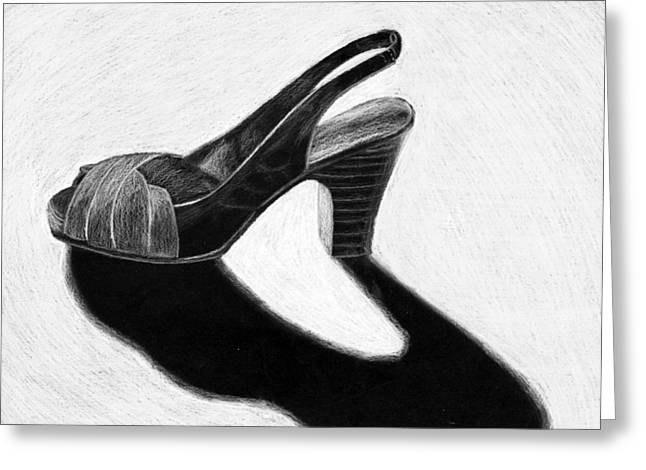 Straps Drawings Greeting Cards - High Heel Greeting Card by Kayla Nicole