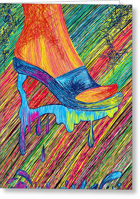 High Heels Abstract Art Greeting Cards - High Heels Abstraction Greeting Card by Kenal Louis