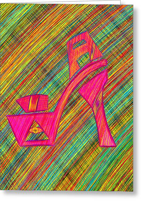 Recently Sold -  - Kenal Louis Greeting Cards - High Heels Power Greeting Card by Kenal Louis
