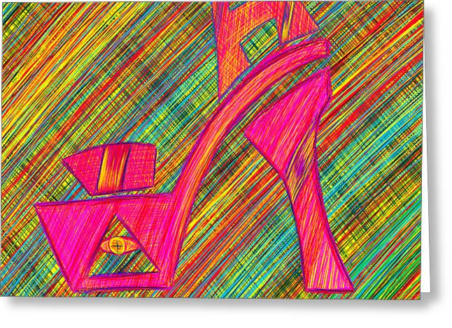 High Heels Power Greeting Card by Kenal Louis