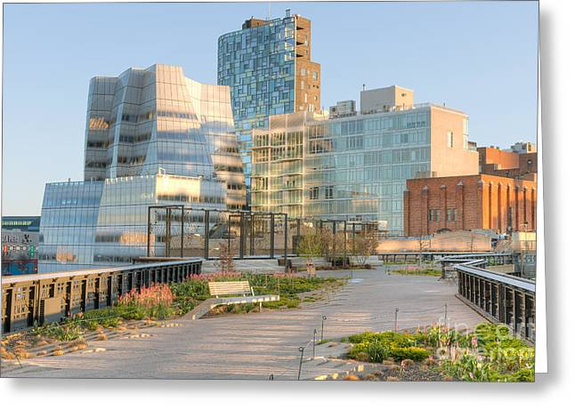 Chelsea Greeting Cards - High Line Park I Greeting Card by Clarence Holmes