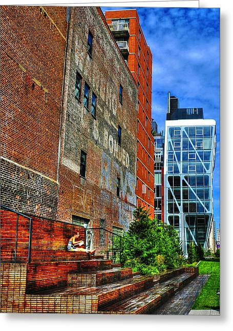 High Line Park Scene Greeting Card by Randy Aveille