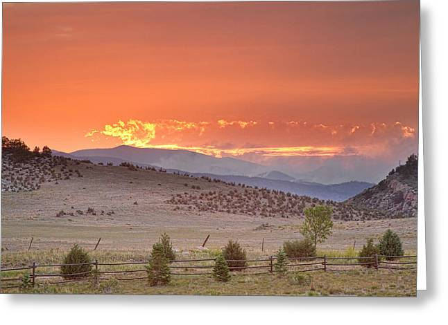 Fort Collins Photographs Greeting Cards - High Park Wildfire at Sunset Greeting Card by James BO  Insogna