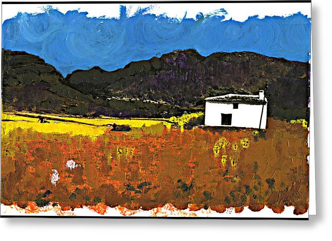 Andalucia Mixed Media Greeting Cards - High Plain Canto Greeting Card by Steven Mendelson
