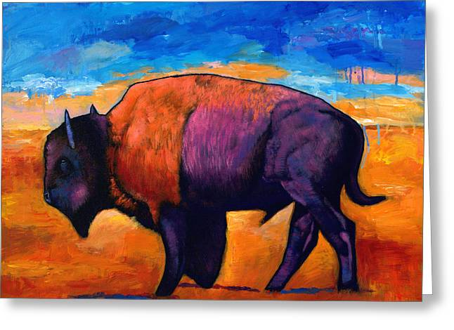 Wild Animals Paintings Greeting Cards - High Plains Drifter Greeting Card by Johnathan Harris