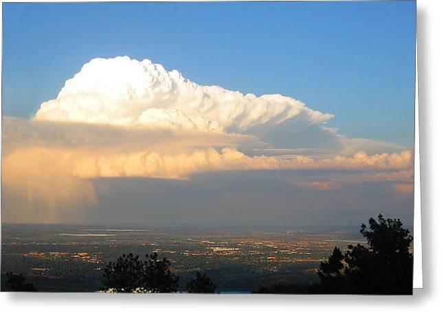 High Plains Thunder Greeting Card by Ric Soulen
