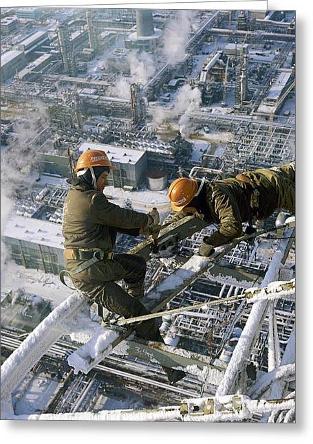 1987 Greeting Cards - High-rise Construction Work Greeting Card by Ria Novosti
