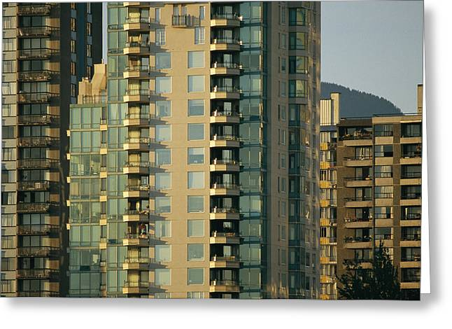 Window Of Life Greeting Cards - High Rise Residences Lining The Bay Greeting Card by Michael S. Lewis