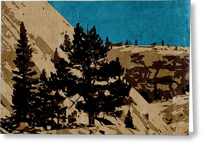 Mixed Media Photo Greeting Cards - High Sierra Country Greeting Card by Bonnie Bruno