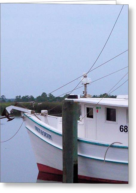 Fishing Boats Greeting Cards - High Tide Greeting Card by Emeraldcoast Gallery