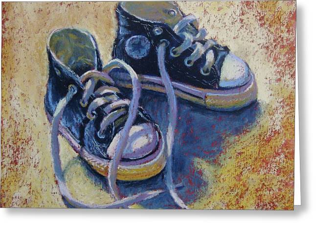 Donna Shortt Greeting Cards - High Tops Greeting Card by Donna Shortt