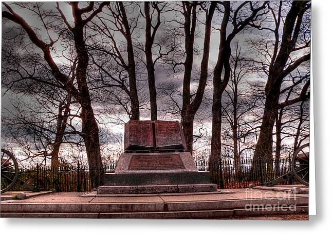 Cemetery Ridge Greeting Cards - High Water Mark of Confederacy Greeting Card by David Bearden