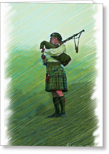 Highland Morning Greeting Card by Earl Jackson
