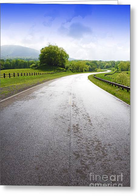 Scenics Greeting Cards - Highland Scenic Highway Route 150 Greeting Card by Thomas R Fletcher