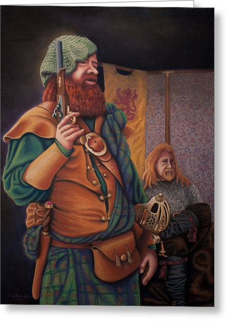 Renaissance Pastels Greeting Cards - Highlanders Greeting Card by Sandra Lynn