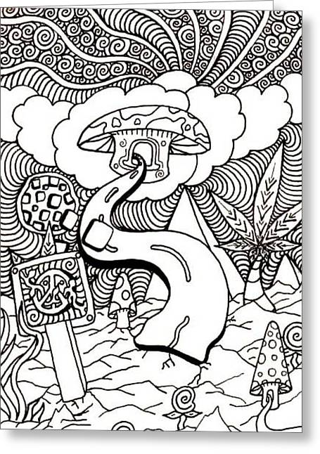 Counterculture Greeting Cards - Highway Greeting Card by Andrew Padula