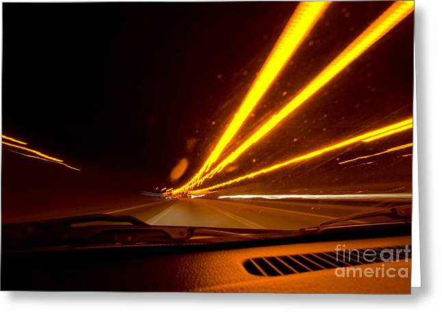 Highway Lights Greeting Cards - Highway Star Greeting Card by Yhun Suarez
