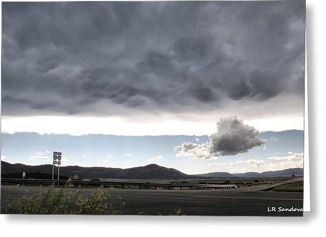 Highway Storm Greeting Card by Lena Sandoval-Stockley