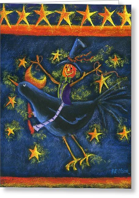 Hiho Mr. Crow Greeting Card by Pat Olson