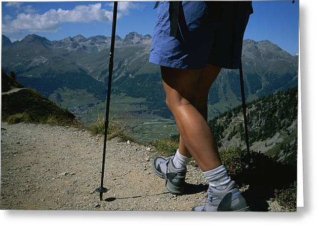 Pontresina Greeting Cards - Hiking The Piz Muragl Mountain Greeting Card by Taylor S. Kennedy