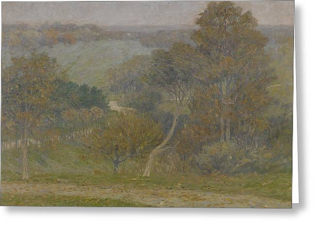 Autumn Landscape Paintings Greeting Cards - Hill and Hollow Greeting Card by Lewis Henry Meakin