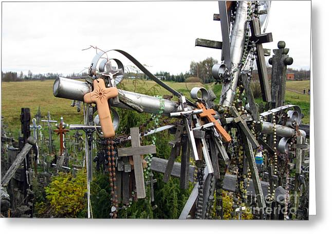 Rosary Greeting Cards - Hill of Crosses 08. Lithuania Greeting Card by Ausra Paulauskaite