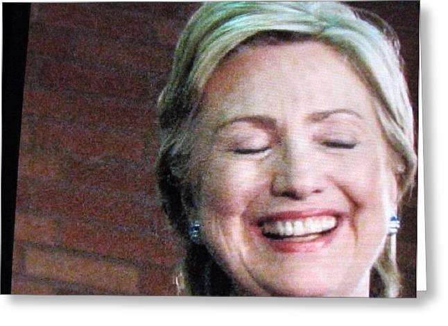 Hillary's Run Greeting Card by Shawn Hughes