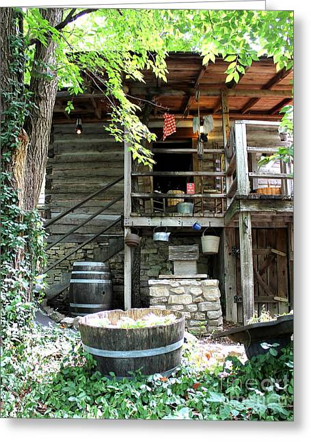 Branson Mo Greeting Cards - Hillbilly Cabin 1 Greeting Card by Sharlotte Hughes