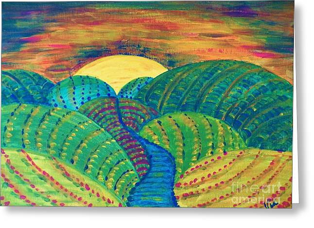 Judy Via-wolff Greeting Cards - Hills of Autumn Greeting Card by Judy Via-Wolff