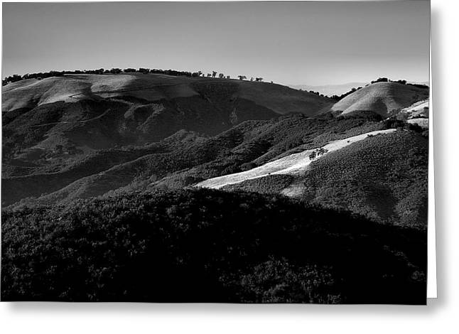 Pacific Ocean Prints Greeting Cards - Hills Of Light And Darkness II Greeting Card by Steven Ainsworth