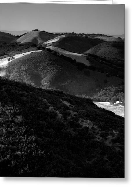 Pacific Ocean Prints Greeting Cards - Hills of Light and Darkness Greeting Card by Steven Ainsworth