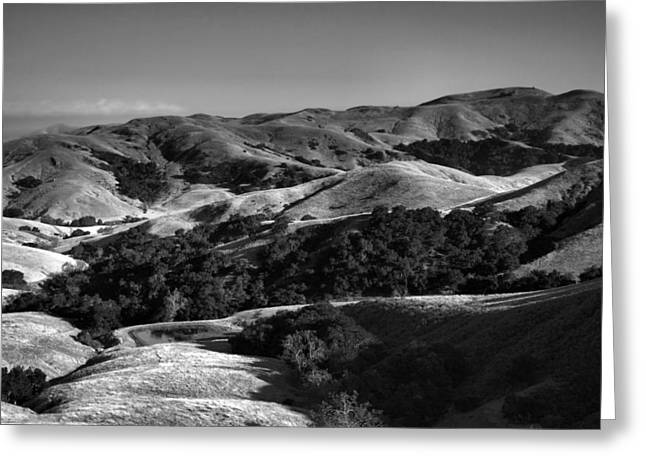 Shadows Framed Prints Greeting Cards - Hills of San Luis Obispo Greeting Card by Steven Ainsworth