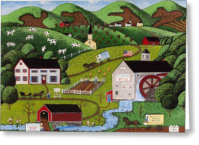 Hillsdale Farms Greeting Card by Joseph Holodook