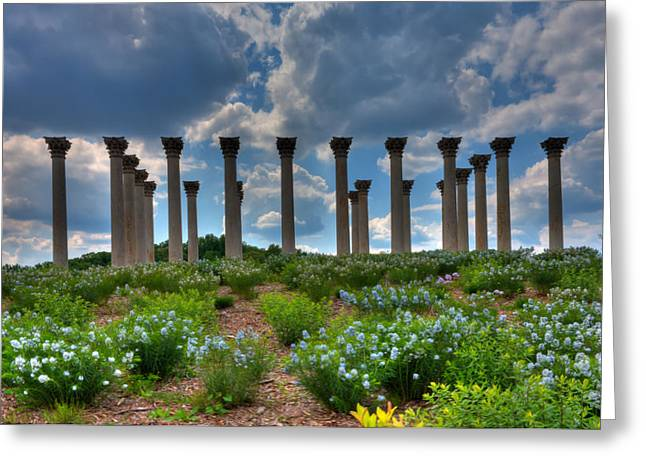 Kevin Hill Greeting Cards - Hilltop Pillars Greeting Card by Kevin Hill
